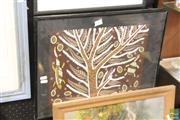 Sale 8468 - Lot 2076 - Mundara Koorang (1952 - ) - Wishing Tree 31 x 38.5cm