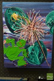Sale 8495 - Lot 2003 - David Edward Conolan - Sniffing Lily Frog, 2003 42 x 32cm