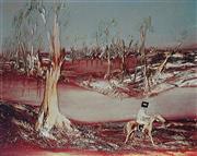 Sale 8976A - Lot 5029 - Sidney Nolan (1917 - 1992) - Kelly on Horseback (from Kelly III Series) 1980 50 x 62 m (frame: 75 x 87 x 3 cm)