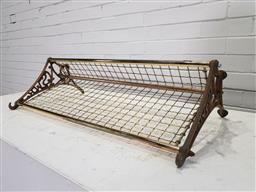 Sale 9157 - Lot 1004 - Reproduction brass luggage rack (w:75 x d:37cm)