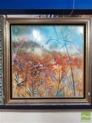 Sale 8544 - Lot 2002 - Janet Price - Figure in Bush Scene 60 x 60cm