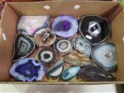 Sale 8601 - Lot 1382 - Box Polished Agate Slices