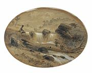 Sale 8713 - Lot 545 - Samuel Thomas Gill (1818 - 1880) - On South Creek 14.5 x 19.5cm