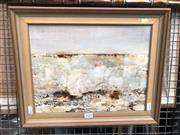 Sale 8811 - Lot 2034 - Shirley Webb - A Winter Seascape, oil on canvas board, frame size: 34 x 42.5, signed lower right