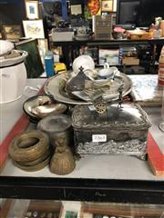 Sale 8819 - Lot 2363 - Collection of Sundries incl. Plated Trinket Boxes; Platter , Metalwares etc