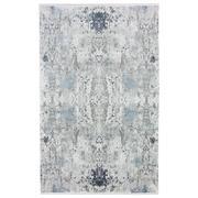 Sale 8914C - Lot 65 - Turkish Woven Space Carpet Collection 01, Silver/Blue, 200x300cm, Viscose/Acrylic