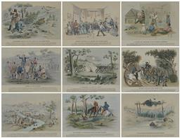 Sale 9161A - Lot 5054 - SAMUEL THOMAS GILL (1818 - 1880) - A Native Sepulchre or Aboriginal Mode of Burial (from the Australian Sketches of Life & Scenery)...