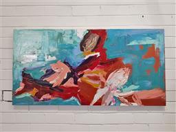 Sale 9157 - Lot 1015 - Gary Berman, abstract on canvas, 60 x 120cm