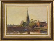 Sale 8394 - Lot 564 - William Beckwith McInnes (1889 - 1939) - Parish Church, St. Ives. Hunts, 1913 25 x 35cm