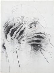 Sale 8410A - Lot 5035 - Anne Hall (1945 - ) - Untitled, 1966 (Shy Model) 76.5 x 56cm (sheet size)