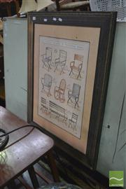 Sale 8441T - Lot 2046 - Timber Framed Print of Fauteuils Chair Designs