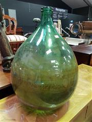 Sale 8657 - Lot 1030 - Large Green Glass Bottle