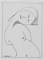 Sale 8683 - Lot 586 - Charles Blackman (1928 - 2018) - Modiglianis Girl, no. 30 25 x 18cm