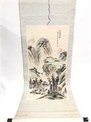 Sale 8739C - Lot 62 - Mountain Scene Chinese Scroll