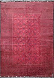 Sale 8912 - Lot 1025 - Red Tone Persian Qunduzi (292 x 191cm)