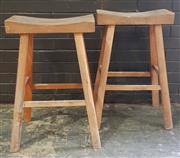 Sale 8959 - Lot 1018 - Pair of Oriental Style Stools (H:107cm)