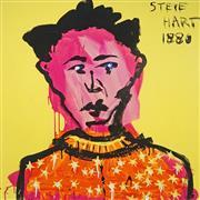 Sale 9001 - Lot 516 - Adam Cullen (1965 - 2012) - Steve Hart 100 x 100 cm (frame: 116 x 116 x 3 cm)