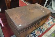 Sale 8310 - Lot 1612 - Rustic Metal Trunk