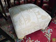 Sale 8554 - Lot 1084 - Yellow Upholstered Ottoman