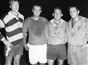 Sale 8754A - Lot 63 - Western Suburbs Players, Concord Oval, Sydney, 1966 - Jeff Barrow, Peter Joyce, Jim Morrissey and Jan Paterson 22 x 31cm