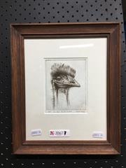 Sale 8754 - Lot 2067 - Austin Platt - Emu Head, Centennial Park etching, ed. 16/50, signed lower right -