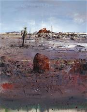 Sale 8926H - Lot 60 - Ken Johnson (1950 - ) - Desert Landscape, 1988 123 x 97cm