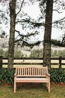 Sale 9200P - Lot 62 - A teak bench, Height of back 92cm x Width 130cm x Depth 64cm