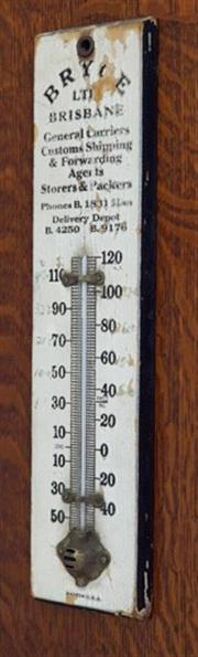 Sale 8320 - Lot 810 - American timber framed advertising thermometer c.1960