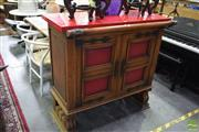 Sale 8542 - Lot 1070 - French Oak Bar with Two Doors Below
