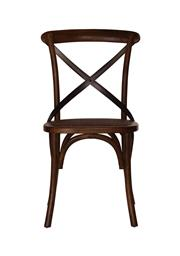 Sale 8599A - Lot 58 - Set of eight elm dining chairs with metal cross backs in aged pewter, H 89 x W 47 x D 46cm