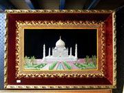Sale 8682 - Lot 2071 - Framed Tapestry of the Taj Mahal