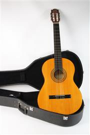 Sale 8747 - Lot 4 - Valencia Accoustic Guitar In Road Case (L: 100cm)