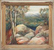 Sale 8781A - Lot 5085 - Dora C Robson - Mt. Buffalo 44.5 x 50cm