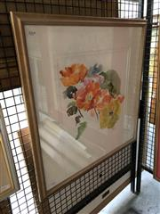 Sale 8807 - Lot 2064 - Artist Unknown - Flowers, watercolour, frame size: 58 x 57cm, signed Mason lower right