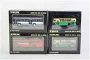 Sale 8827T - Lot 693 - Trux 1:76 Scale Replica Aussie Big Rigs & Buses (4) incl. 1978 Mercedes Benz 0305