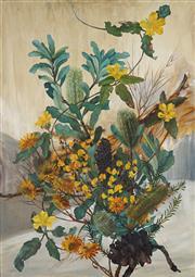 Sale 8947 - Lot 557 - William Fletcher (1924 - 1983) - Banksia Integrifolia 66 x 46 cm (frame: 81 x 63 x 4 cm)
