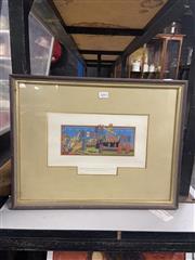 Sale 8981 - Lot 2093 - Italian Chromolithograph LImbarco Dei Cavalieri Del Santo Spirito Per La Crociata (Frame: 47 x 36cm)