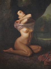 Sale 9038 - Lot 591 - Ricardo B Enriquez (1920 - ) - Nude, 1948 118 x 87 cm (frame: 139 x 116 x 7 cm)
