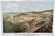Sale 9058 - Lot 2053 - Gibbs, Shallard & Co., The Great Zigzag Lithgow, Western Railway; Chromo-lithograph; frame: 43 x 54 cm