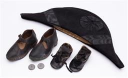 Sale 9190E - Lot 65 - A napoleon style hat together with two pairs of shoes