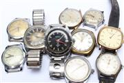 Sale 8719 - Lot 27 - A Quantity of Mens Wristwatches (Most without Bands)