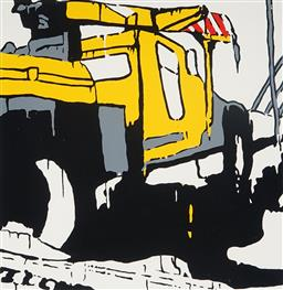 Sale 9080A - Lot 5037 - Jasper Knight (1978 - ) - Truck Overtaking 56 x 56 cm (frame: 88 x 88 x 4 cm)