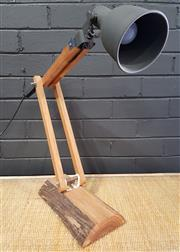 Sale 8979 - Lot 1049 - Modern Rustic Based Desk Lamp (H:57cm)