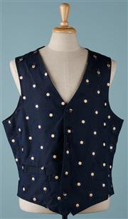 Sale 9080F - Lot 47 - A  FAVOURBROOK WAIST COAT; with embroided sun flower design to front and silk panels to front XXL