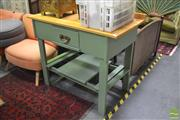 Sale 8289 - Lot 1094 - Pine Single Drawer Kitchen Island