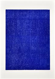 Sale 8347A - Lot 43 - John Nixon (1949 - ) - Ultramarine Blue, 1988 (Self Portrait Series) 73.5 x 53.5cm (99 x 70cm, sheet size)