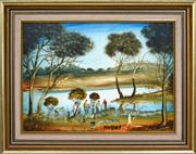 Sale 8389 - Lot 556 - Kevin Charles (Pro) Hart (1928 - 2006) - Catching Yabbies 29 x 40cm