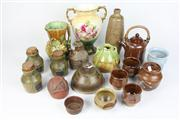 Sale 8391 - Lot 11 - Australian Studio Pottery Vase with Other Studio Pottery incl. a Cheese Dome
