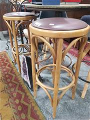 Sale 8863 - Lot 1025 - Pair of Bentwood Bar Stools