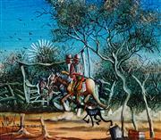 Sale 8947 - Lot 511 - Max Mannix (1939 - ) - The Two Horsemen 13.5 x 15.5 cm (frame: 43 x 45 x 4 cm)